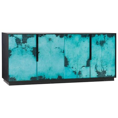 4 Door Sideboard with Vellum Inlay