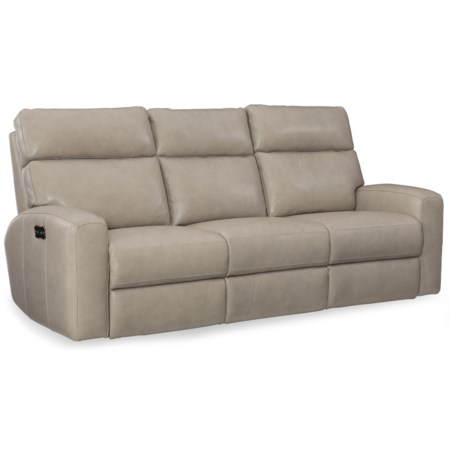Casual Power Motion Reclining Sofa with Power Headrests and USB Charging Ports