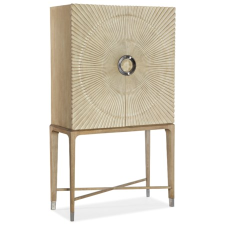 Contemporary Zaballa Bar Cabinet with Wine Storage