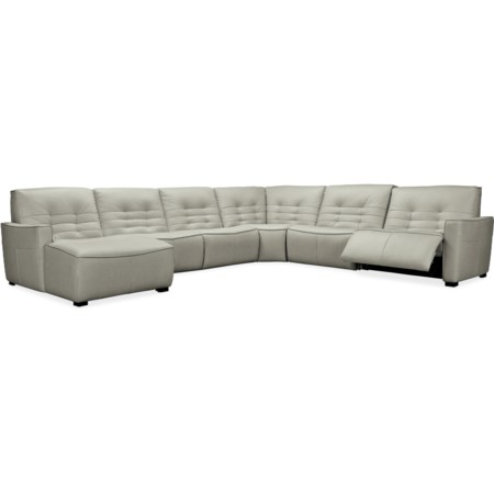 Contemporary 6-Piece Power Sectional with LAF Chaise