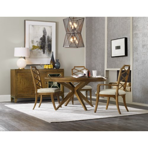 Hooker furniture retropolitan casual dining room group for Casual dining room tables