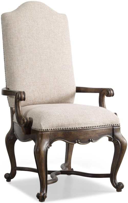 Hamilton home rhapsody upholstered dining arm chair with for Furniture 0 percent financing
