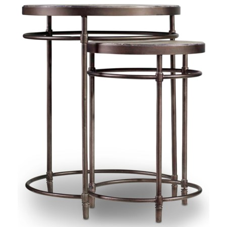Nest of Tables with Metal Base