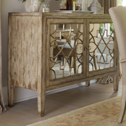 Hooker furniture sanctuary two door mirrored console for Chinese furniture toronto canada