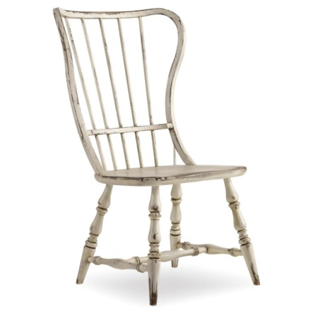 Vintage Style Spindle Back Side Chair