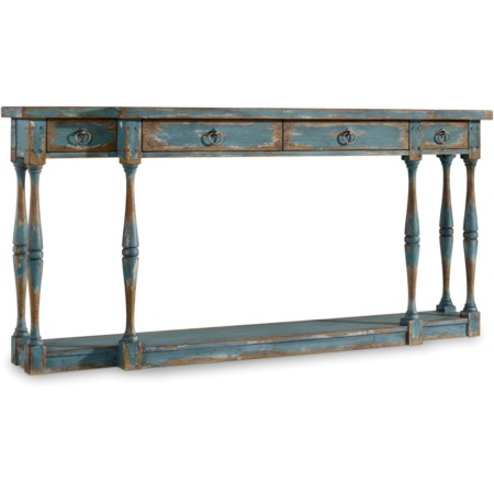 Four-Drawer Thin Console