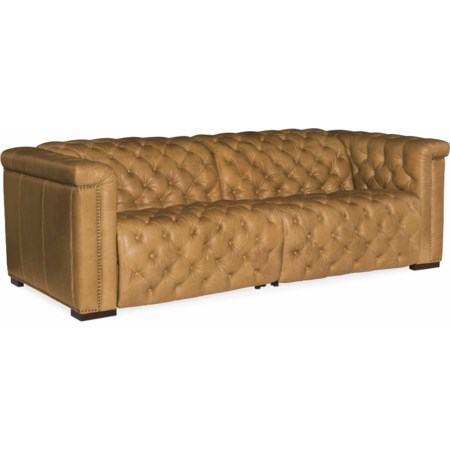 Power Leather Motion Sofa with Power Headrest