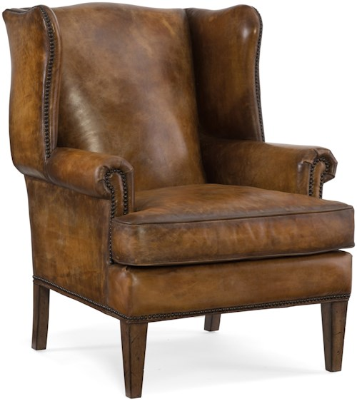 Hooker furniture club chairs traditional wing back club for Furniture 0 down