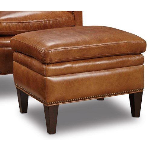 Hooker furniture club chairs traditional ottoman with for Ottoman interior design