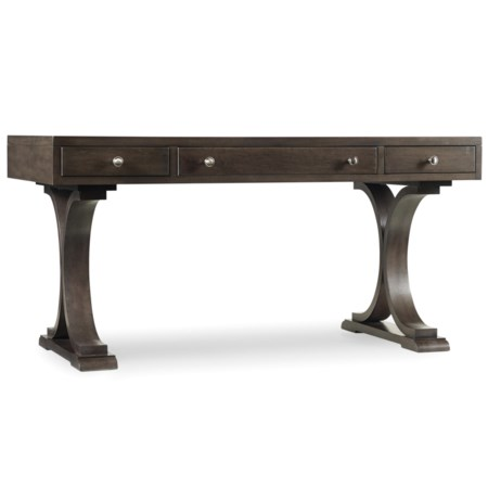 3 Drawer Writing Desk with Shaped Pedestals