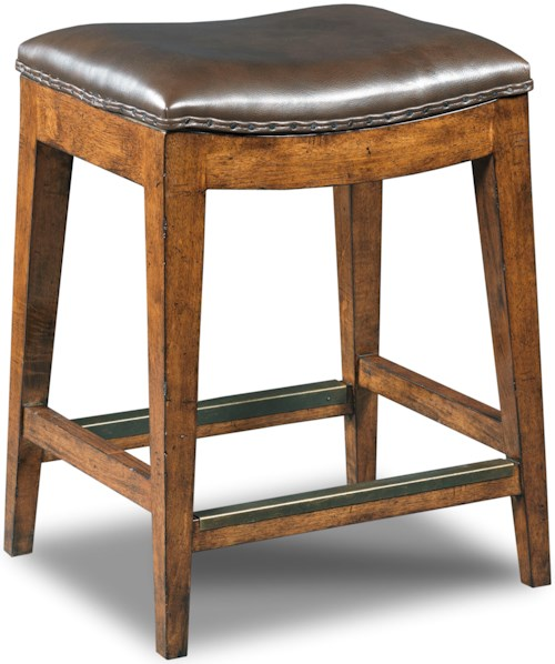 Hooker Furniture Stools Medium Sangria Rec Backless Counter Stool Stoney Creek Furniture Bar