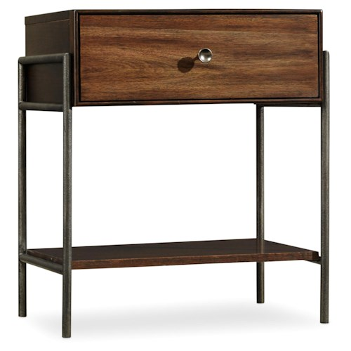 Hooker Furniture Studio 7h Encase Nightstand With Drawer Boulevard Home Furnishings Night Stands