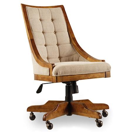 Tilt Swivel Sling Back Office Chair with Armani Linen Seat