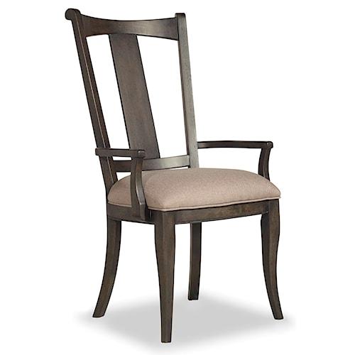 Hooker furniture vintage west upholstered splatback arm for Furniture 0 down