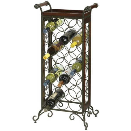 21 Bottle Wine Butler with Tray Top