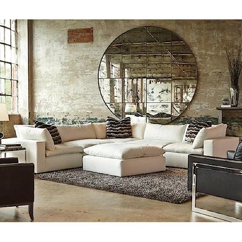 Huntington house xavier sectional sofa group with track for Xavier sectional sofa