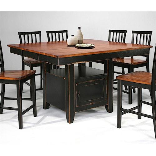 intercon arlington kitchen island slat back stools boulevard home furnishings pub table. Black Bedroom Furniture Sets. Home Design Ideas
