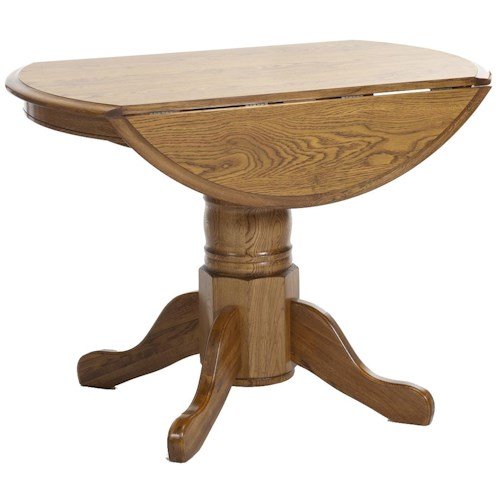 Intercon classic oak 42 pedestal table with drop leaves for 42 dining table with leaf