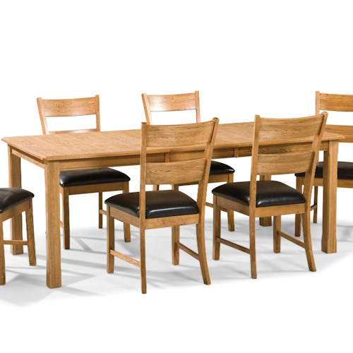 Intercon family dining leg dining table with filler leaf for Best dining tables for families