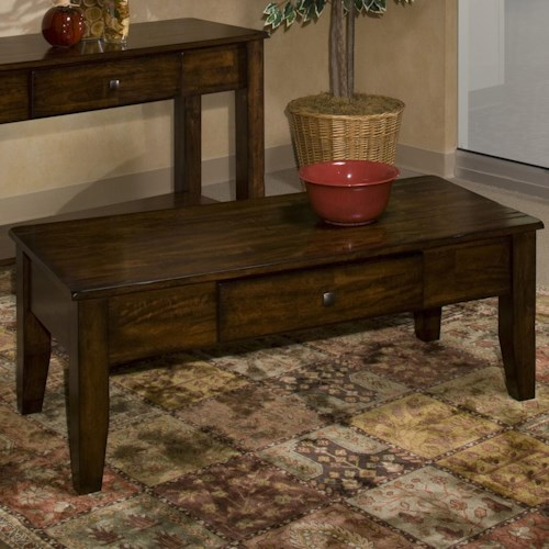 Wilson Antique White Coffee Table: Intercon Kona Mango Wood Coffee Table