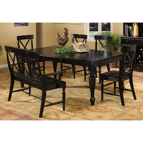 Intercon Roanoke Dining Table With Bench And Chairs Wilson 39 S Furniture Table Chair Set