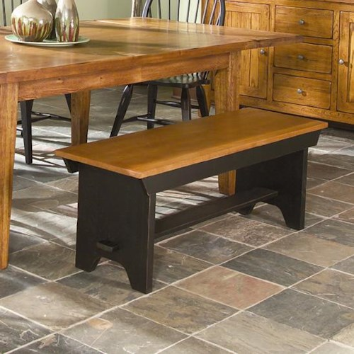 Intercon Rustic Traditions Bench With Wood Seat Rife 39 S Home Furniture Dining Benches