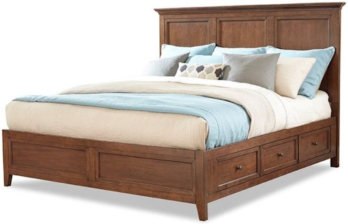 Intercon San Mateo Transitional Queen Storage Bed With Six Drawers Wayside Furniture Panel Beds