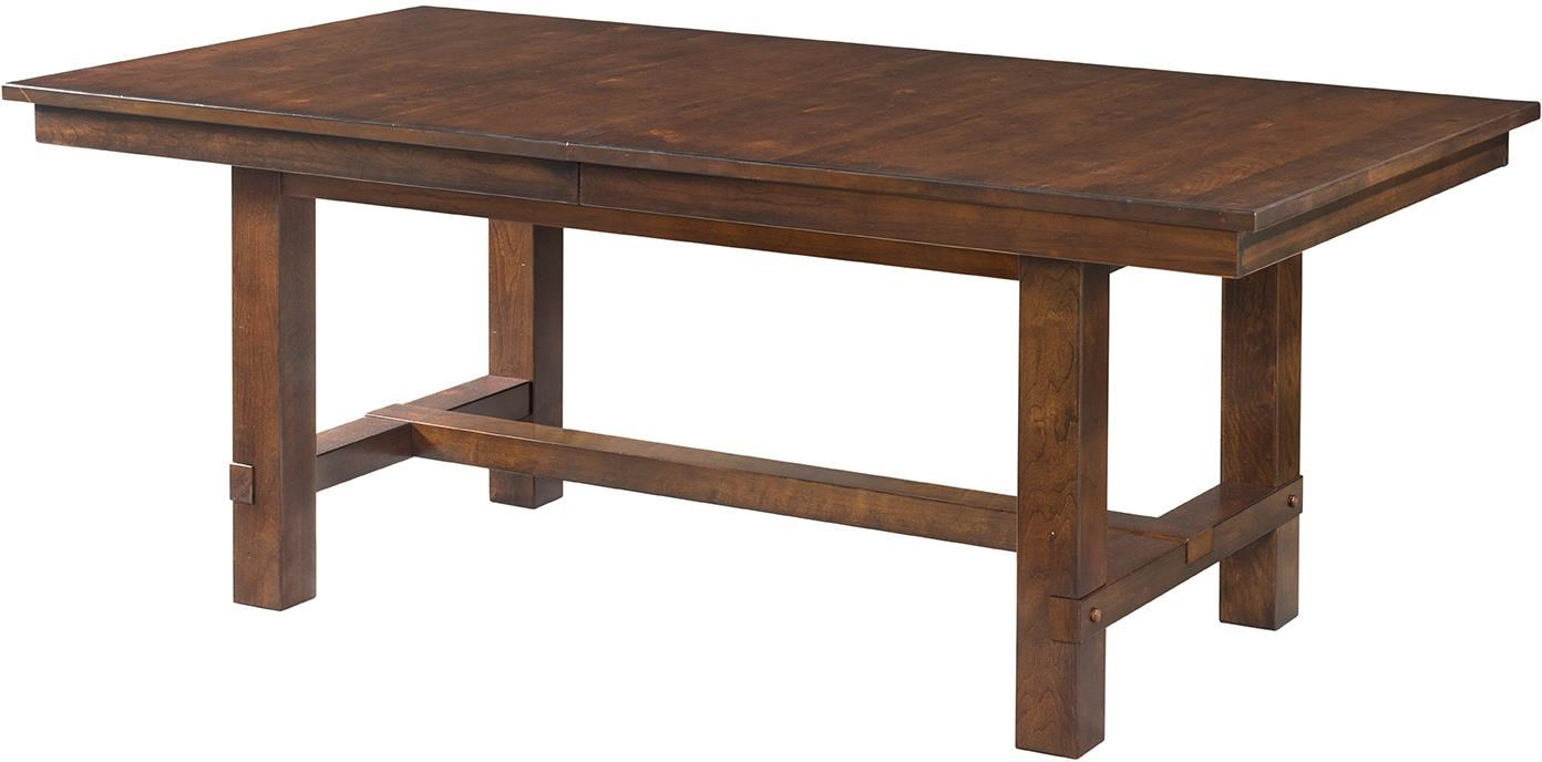 Intercon Star Valley Trestle Dining Table with Leaves