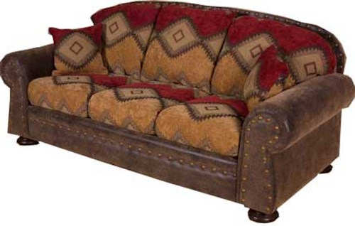 Intermountain Furniture Navajo Southwest Style Sofa Boulevard Home Furnishings Sofa