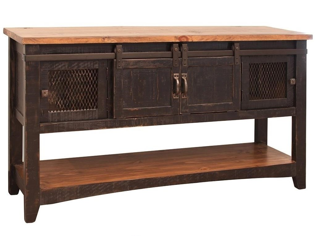 Rustic Sofa Table Ifd Pine Rustic Sofa Table Drawers And