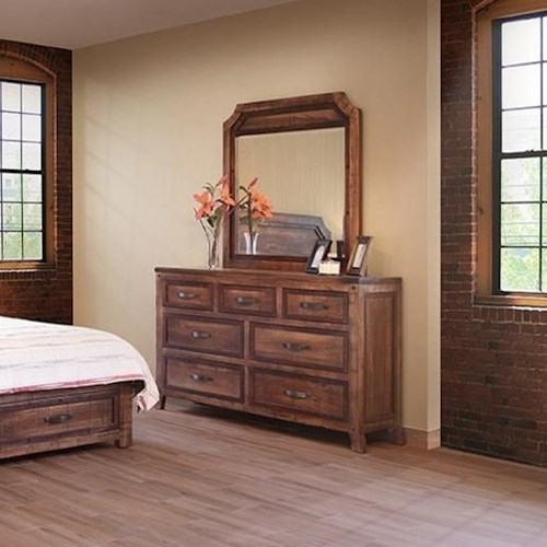 International furniture direct regal rustic dresser and for Bedroom furniture direct