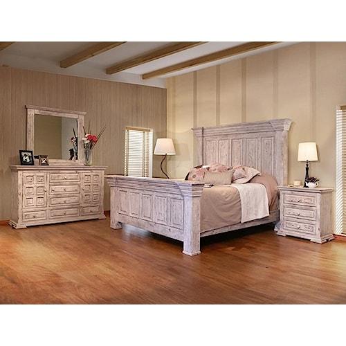 International furniture direct terra white queen bedroom for Bedroom furniture direct