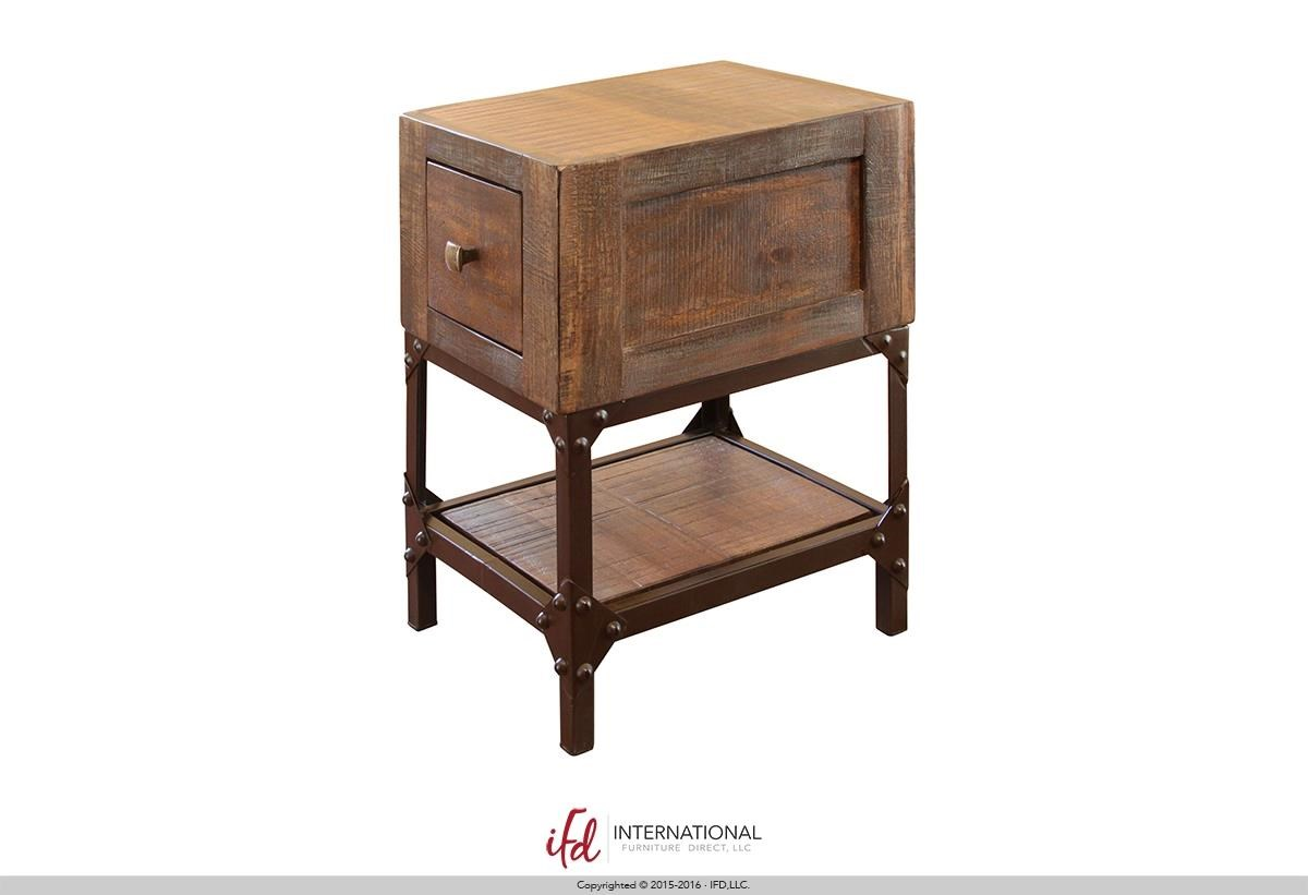 Chairside table coast to coast imports 1drawer chairside for Furniture direct