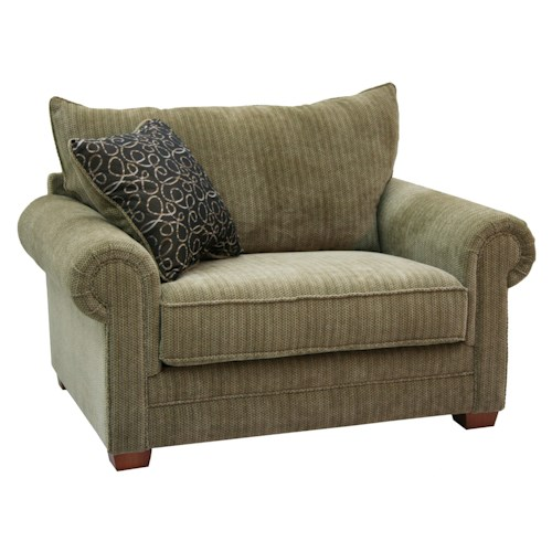 Jackson furniture anniston oversized rolled arm chair for Furniture 500 companies
