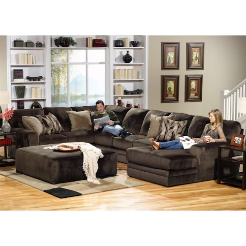 Jackson Furniture 4377 Everest 3 Piece Sectional With Lsf Section Turk Furniture Sectional