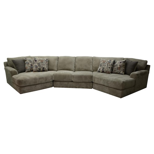 Jackson furniture malibu four seat sectional sofa for Jackson furniture sectional sofa