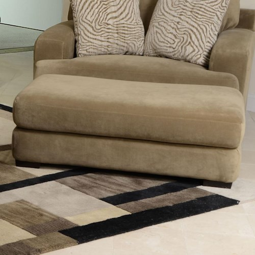 Jackson furniture palisades large casual modern ottoman for Furniture 500 companies