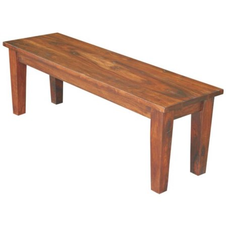 "53"" Warm Brown Sheesham Wood Dining Bench"
