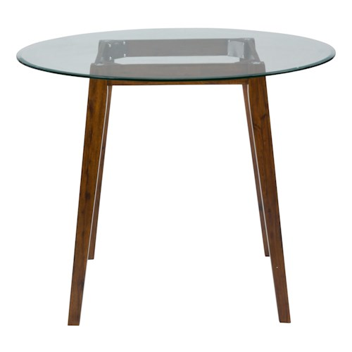 Jofran plantation 48 round counter height table with for Dining room tables 48 round