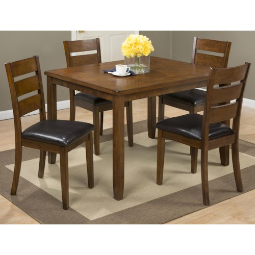Jofran Plantation 5 Pack Table With 4 Chairs Pilgrim Furniture City Dini