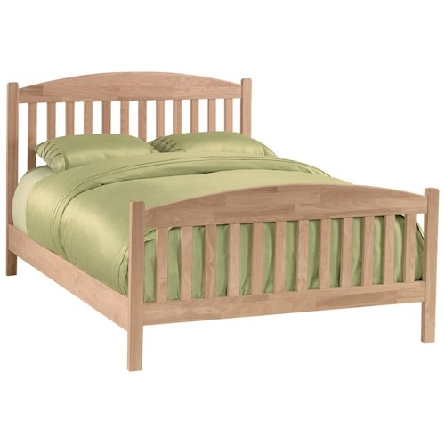 John Thomas Select Bedroom Queen Mission Bed Summerhome Furniture Platform Or Low Profile