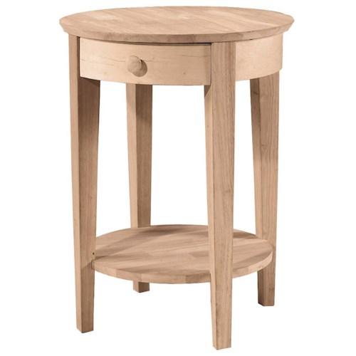 John thomas select home accents phillips bedside table for Select home