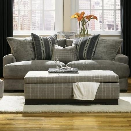 Jonathan Louis Carlin Sofa With Loose Back Pillows Pilgrim Furniture City Sofas