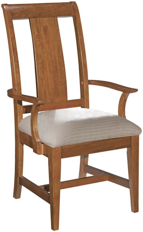 Kincaid furniture cherry park 63 062v arm chair for Furniture 0 percent financing