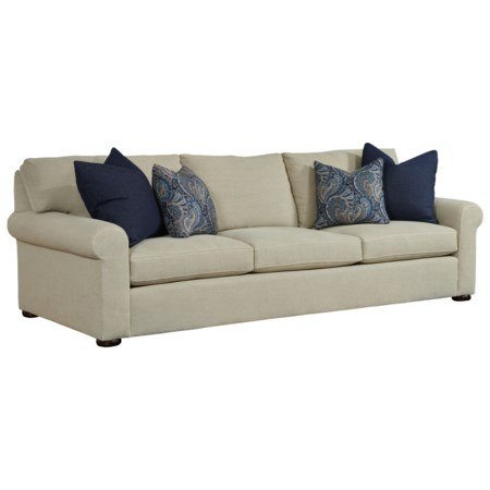 Customizable Grande Sofa with Rolled Arms