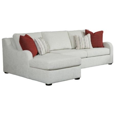 Chaise Sofa with Slope Track Arms