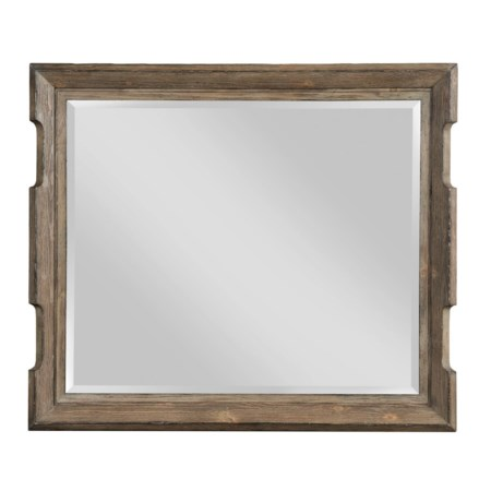 Rustic Scalloped Edge Landscape Mirror