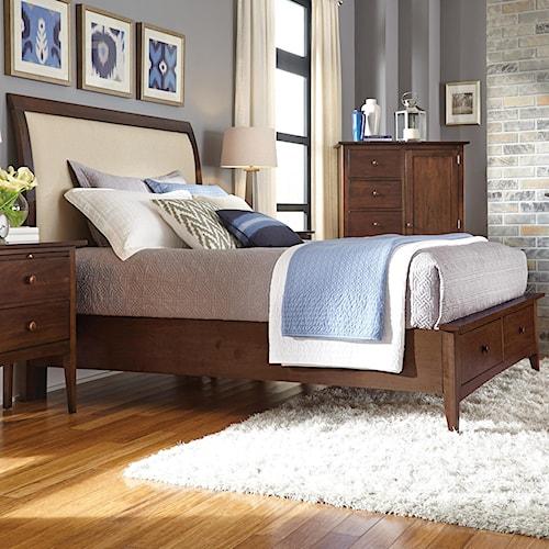 Kincaid Furniture Gatherings King Meridian Bed With Storage Footboard Belfort Furniture