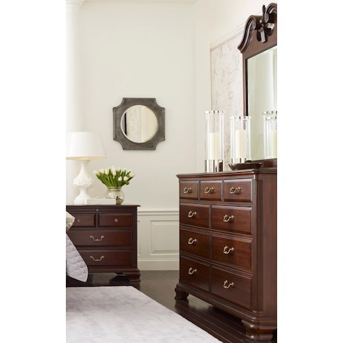 Kincaid furniture hadleigh traditional dresser and mirror for Furniture 500 companies