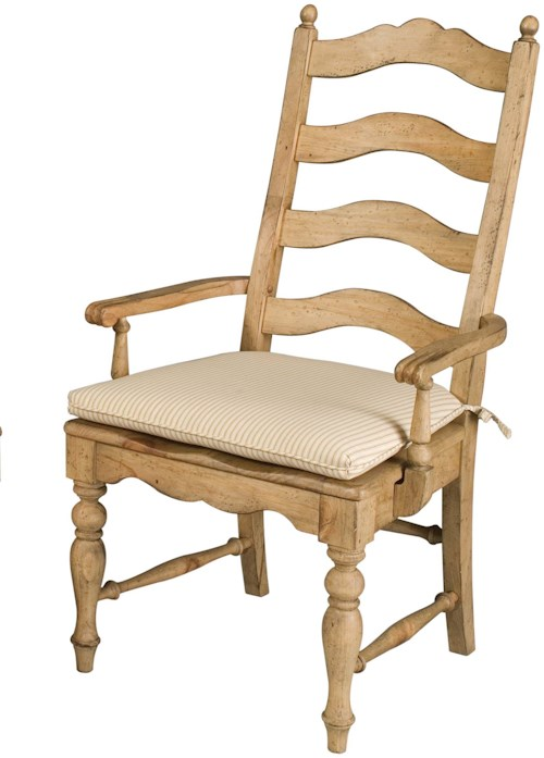 Kincaid furniture homecoming 33 062 ladderback arm chair for Furniture 0 percent financing
